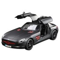 奔驰汽车模型1:18奔驰模型梅赛德斯仿真合金车模静态礼品摆件汽车模型 1:18梅赛德斯奔驰SLS(黑色)