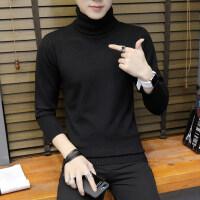 秋冬季男士高领毛衣韩版修身潮流学生薄款长领打底针织衫男装线衣
