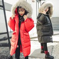 儿童棉衣冬季2018新款韩版加厚棉袄女孩洋气中长外套潮