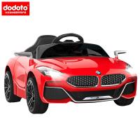 dodoto儿童电动车四轮可坐人摇摆遥控玩具小汽车男女宝宝小孩童车电瓶车双电双驱皮座椅摇摇车1-3岁Z4