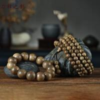 印尼加里曼丹沉香手串男108颗佛珠项链手链天然檀香保真老料珠子