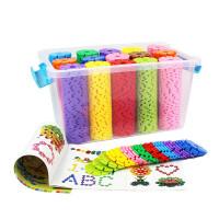 儿童雪花插片 大号加厚桶装雪花片拼图塑料插片积木拼插玩具儿童力中号