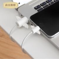 家用数据线防断裂保护套充电器保护头oppo苹果手机绕线器收纳保护线SN3581 天使