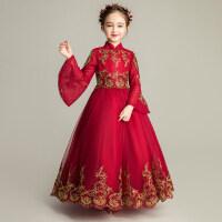 女童晚礼服公主裙儿童小主持人模特走秀钢琴演出服花童蓬蓬纱裙子
