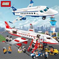 积木玩具 男孩益智力拼装飞机系列拼插大型客机组装模型