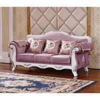 欧式布艺沙发123组合简欧客厅整装大小户型紫色三人双人家具 如图色
