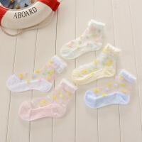 1-12岁儿童夏季水晶船袜薄款冰丝袜宝宝婴儿袜子女童透气短袜5双