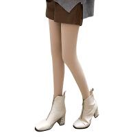 光腿显瘦神器薄款加厚假透肉加绒裸感双层肉袜女春秋冬天季打底裤 均码