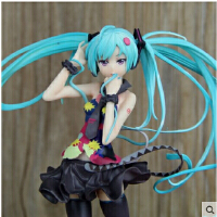 2015初音未来手办模型 MIKU Tell your world 短裙黑丝