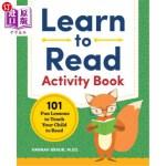 【中商海外直订】Learn to Read Activity Book: 101 Fun Lessons to Tea