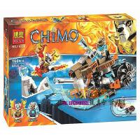 欢乐童年-兼容乐高式气功传奇赤马神兽CHIMO懦剑虎的剑齿摩托车10350拼装积木