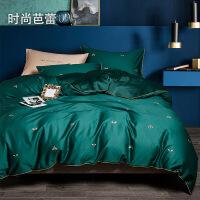 四件套全棉纯棉床单被套床笠款1.5米1.8m双人床4三件套床上用品女