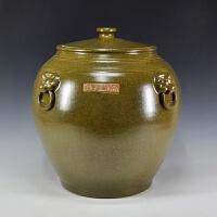 特大�陶瓷茶�~罐茶缸茶�~末釉米缸景德�瓷器普洱醒茶罐�ξ锕�