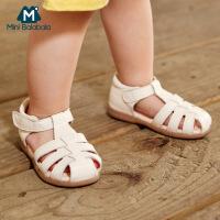 【限时秒杀】迷你巴拉巴拉儿童凉鞋2020夏男女宝宝魔术贴罗马鞋柔软护足凉鞋