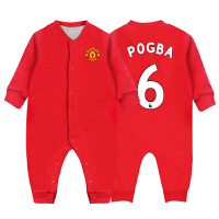 婴儿衣服冬季加绒0-3-6-12个月欧冠足球宝宝连体衣保暖运动爬服