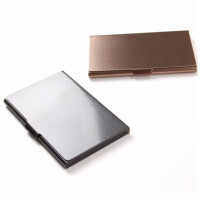 康百H6200/H6201/H6204名片盒 皮面名片夹 随身名片包 名片收纳盒 单个装 颜色随机