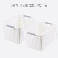 桌面杂物零食收纳盒塑料家用桌上物品整理储物箱厨房置物