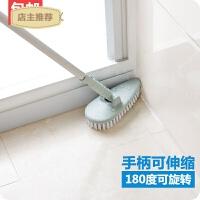 家用地板刷地砖清洗地刷清洁长柄卫生间瓷砖墙面加长硬毛浴室长柄刷SN0700