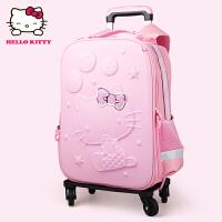 Hello Kitty凯蒂猫 KT1020粉红 小学生万向轮拉杠贵族书包EVA旅行箱 当当自营