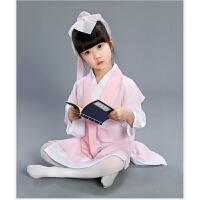 六一儿童汉服书童演出服弟子规幼儿国学男女童三字经古装表演服装 粉色 110cm