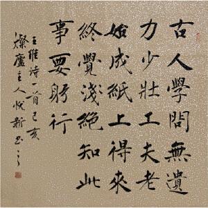 名诗:冬夜读书示子聿R3769姜悦新 中书协会员