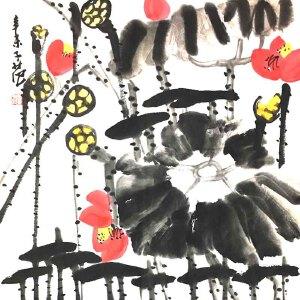 1915――2011,1956年任北京国画院院长兼秘书长,作品被多个国家和众多博物馆收藏崔子范(荷塘