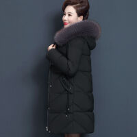 冬季外套女中长款大码棉衣中老年妈妈洋气棉袄高贵加厚女 6XL 建议170-190