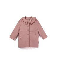 【双12限时购】女童呢子外套冬女童装网红洋气小女孩中长款儿童可爱毛呢大衣