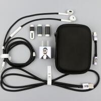 【升级款】苹果X数据线保护套iphone678/plus耳机保护绳收纳盒