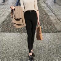 打底裤外穿潮流打底裤女外穿潮流个性时尚破洞薄款黑色显瘦裤子网红同款外穿九分