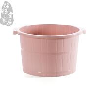 带按摩泡脚桶冬季加高洗脚盆塑料加厚足浴盆家用足浴桶儿童洗脚桶S