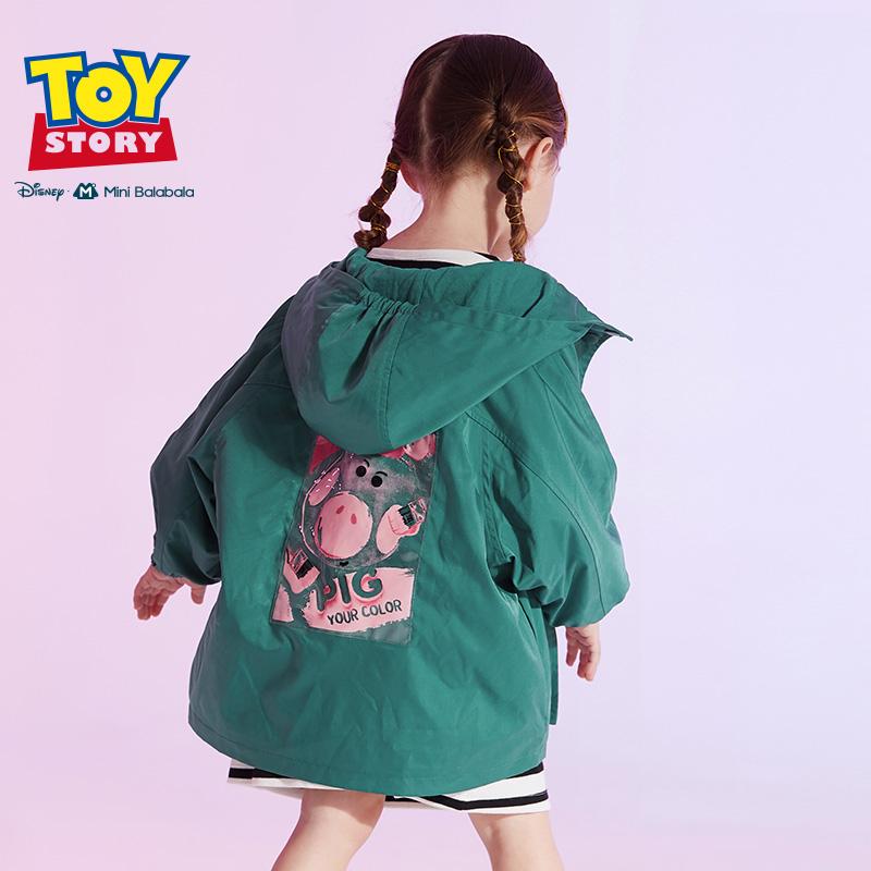 【1件6折】迷你巴拉巴拉儿童外套女童中长款2019秋新款玩具总动员系列派克服