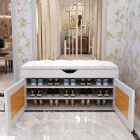 家用换鞋凳式鞋柜储物穿鞋凳收纳鞋柜可坐门口玄关鞋柜简约现代