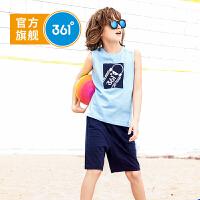 【下单立减3折价:59.7】361度童装 男童套装2019夏季新品儿童运动套装休闲套装T恤短裤服