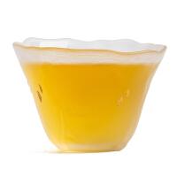 琉璃品茗杯 古法手作小茶杯单杯主人杯普洱茶盏