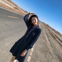 时尚品牌2019新款春装法式复古山本小香风针织连衣裙女秋冬超仙毛衣打底裙SN7022
