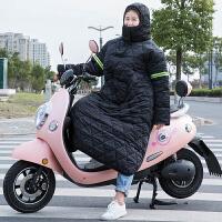 冬季骑车防风防雨 骑车开电动车防风衣防寒保暖摩托车护膝防雨水挡风被连体加厚