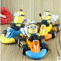 神偷奶爸 卑鄙的我小黄人回力赛车 卡丁车手办 儿童玩具公仔模型