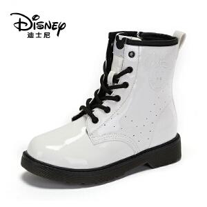 【达芙妮集团】迪士尼 冬短绒冬靴时尚女大童马丁靴