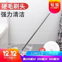 浴室长柄去死角刷子洗厕所卫生间家用厨房长把清洁神器瓷砖地板刷 图片色