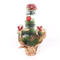 圣诞节庆装饰品欧式复古小树盆景树花盆树桌面橱窗摆件迷你圣诞树