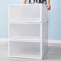 抽屉式收纳箱衣柜收纳盒衣物整理箱子透明塑料装衣服储物箱特大号