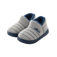男女宝宝室内鞋1-3岁冬季拖鞋fang滑软底棉鞋包跟幼儿鞋