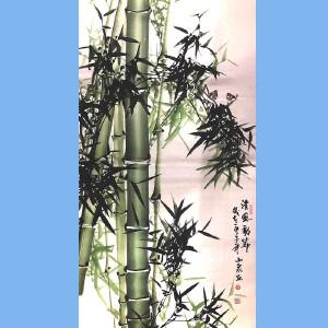 湖南人,擅长画花鸟尤其擅长画竹子,中国书画院理事吕山泉(清风劲节)2