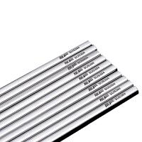 304不锈钢筷子套装家用10双防滑金属银筷子家庭装方形铁筷子快子