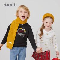 【活动价:203.4】中国风T恤安奈儿童装男女童带帽长袖卫衣春2020新款洋气落肩上衣