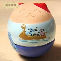 可爱萌物招财猫不倒翁创意家居摆设陶瓷开业摆件创意生日结婚礼物SN0314