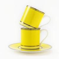 彩色情侣咖啡杯简约下午茶小号杯碟套装可爱结婚礼物永恒