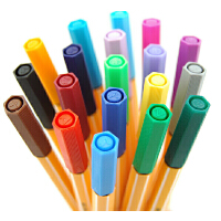 思笔乐(STABILO)不断线 学生办 公佳选择 8810 10色纤维水笔