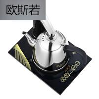 自动上水电热水壶电动自吸式抽水烧水泡茶电茶壶家用烧水壶电磁炉 大气黑 单炉免翻盖款
